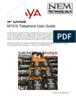 Avaya IP Office M7310 Telephone User Guide