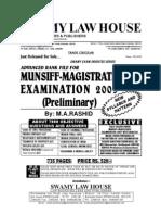 Advanced Rank File for Munsiff Magistrate [Kerala Judicial Service ] Examination by m.a.rashid