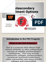 Post Secondary Enrollment Options