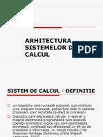 Arhitectura Sistemelor de Calcul