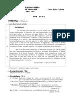 Subiecte olimpiada de franceza etapa judeteana-clasa a 11-a