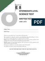 8th Grade Science Test