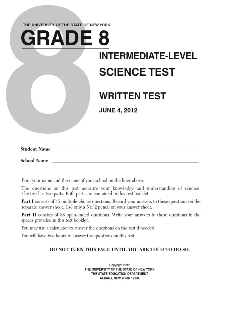 8th Grade Science Test Chemical Elements – 6 Grade Science Worksheets