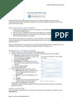 Creating a ePortfolio Using Wordpress