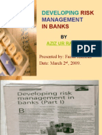 Devoloping Risk Management