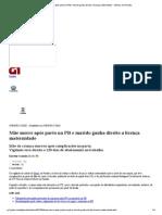 G1 - Mãe morre após parto na PB e marido ganha direito a licença maternidade - notícias em Paraíba