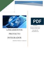 LINEAMIENTOS PROYECTO INTEGRADOR 2013-2014