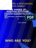 The Power of Positive Attd