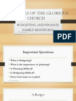 Christian Budgeting & Finance
