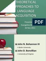 Language Acquisition Report