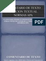 Citas Textuales y Comentario de Texto