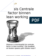 Tijd Als Centrale Factor Binnen Lean (W44)