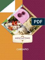 Mesclattino Cardápio