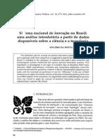 ALBUQUERQUE, E. M. (1996) - Sistema nacional de inovação no Brasil - uma análise introdutória a partir de dados disponíveis sobre a ciência e a tecnologia