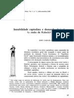 BRAGA, J. C. S. (1983) - Instabilidade capitalista e demanda efetiva - a razão de Kalecki
