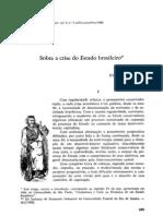 FIORI, J. L. (1989) - Sobre a Crise Do Estado Brasileiro