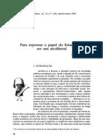 FIORI, J. L. (1992) - Para Repensar o Papel Do Estado Sem Ser Um Neoliberal