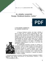 FURTADO, C. (1982) - As relações comerciais Europa Ocidental - América Latina