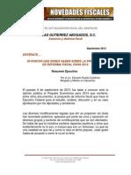 Boletin Sep 2013. p. Reforma Fiscal Ruelas 2014