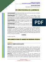 Reglamento Residuos Solidos Honduras