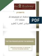The Ten Principles - PDF Presentation