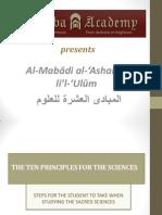 The Ten Principles - Power-point Presentation