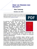 Como Analisar as Classes nas Regiões Rurais - Mao Tsetung.doc