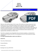Volvo s40 v40 Owners Manual 2001