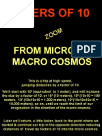 Amazing trip of Universe-from Micro to Macro Cosmos