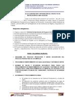 Requisitos Proyecto Instalacion Caldera