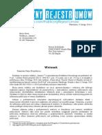 Wniosek o upubliczenie rejestrów umów słupskich spółek miejskich