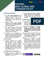 Logros del Sector de Relaciones Exteriores - Inglés