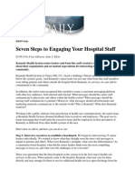 Seven Steps to Engaging Your Hospital Staff