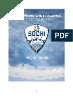 2014 Winter Olympics Media Guide