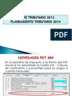 Cierre Tributario 2013 Planeamiento Tributario 2014