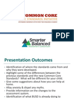 CCSS Presentation Parent Presentation Updated