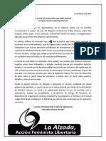 Declaración a un año de la muerte de Juan Pablo Jimenez