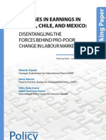 Changes in Earnings in Brazil, Chile, And Mexico: