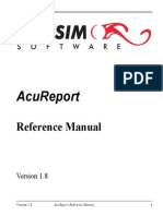 AcuReport Reference Manual