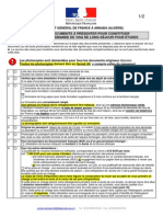 Liste Des Documents a Presenter - Visas d Etudes