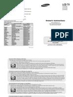 Samsung LE40S62 user manual