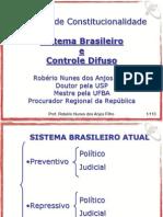 26-07 Controle de Constitucionalidade - Sistema Brasileiro Atual e Controle Difuso - Federal 2011
