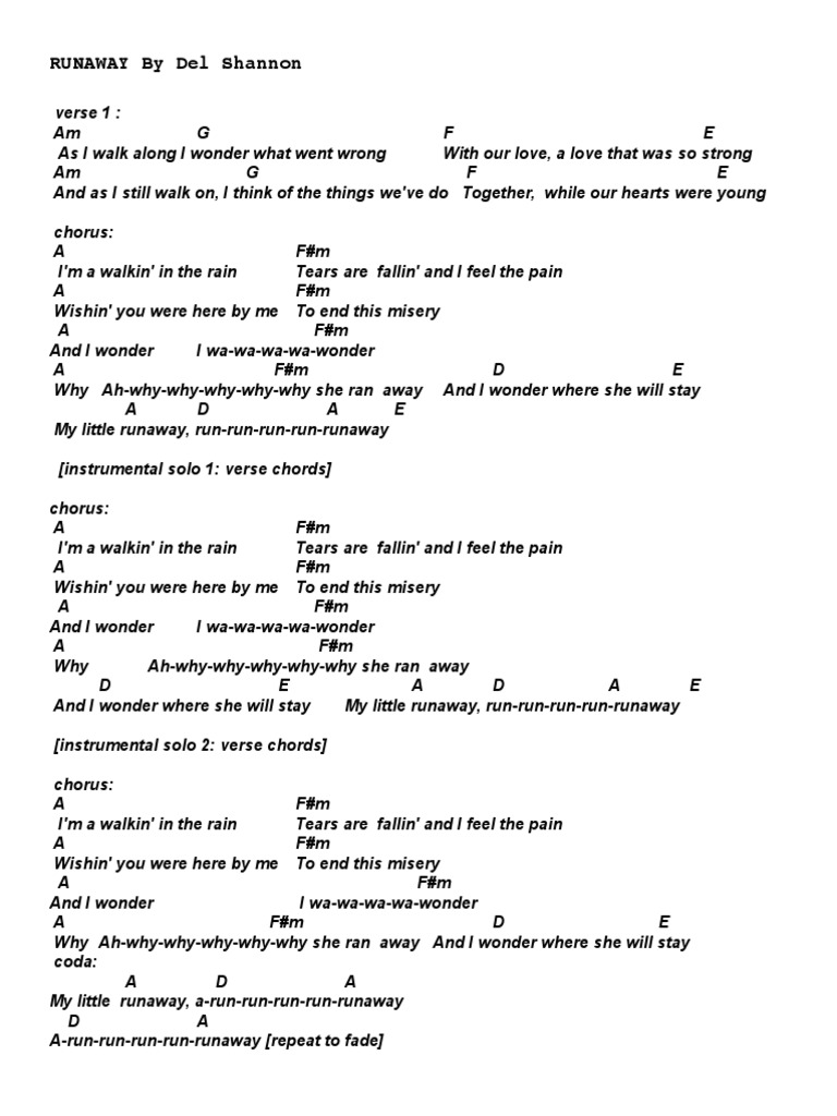 Declaration Ambitious Patent you better run run run away lyrics ...