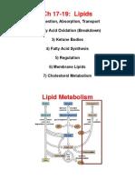 9. Lipids Chapter 17-19 (1)