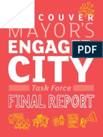 Final Report from Vancouver's Engaged City Task Force 2014