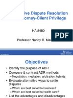 ADR and Attorney Client Privilege_2012