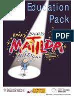 Matilda a Musical Education Pack