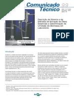 Descrição de Sistemas e de Métodos de Extração de Óleos Essenciais