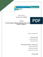 Informe Preliminar Sobre El Veto Presidencial a La Ley de Presupuestos Minimos Ambient Ales de Proteccion de Los Glaciares
