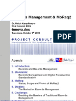 [EN] Records Management & MoReq2 | innova.doc 2009 | Barcelona | Ulrich Kampffmeyer  PROJECT CONSULT GmbH